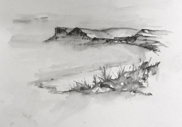 """Fair Head In Spring""  Pencil Drawing. SOLD"