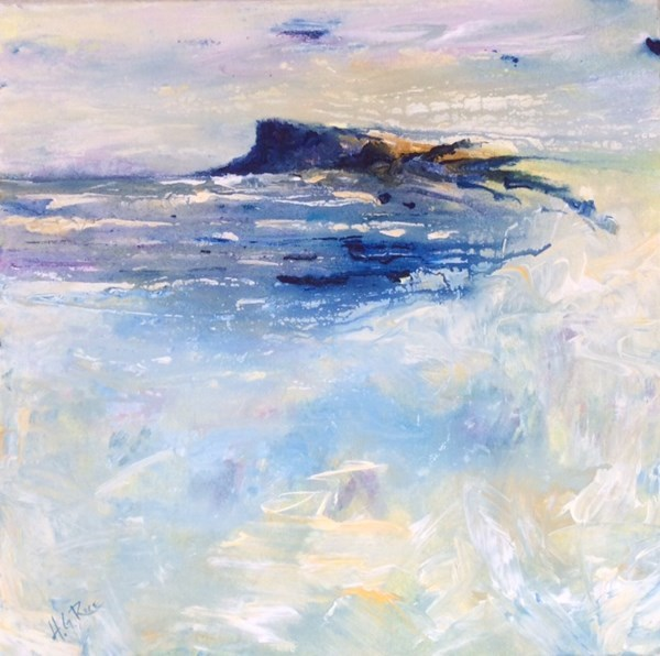 """Fair Head North Antrim""  40x40 cms.  In The Mount, Ballycastle."