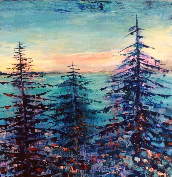 """Home At Last II"" Acrylic on canvas Woodlands Gallery, Winnipeg"